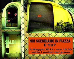 Le imprese di Parma scendono in piazza. Il 6 Maggio sotto i Portici del Grano