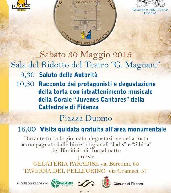 Fidenza: al Teatro Magnani presentazione della Torta del Pellegrino