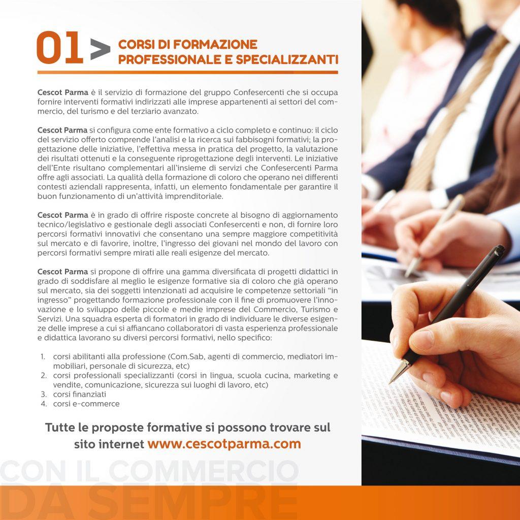 Corsi di Formazione Professionale e Specializzanti