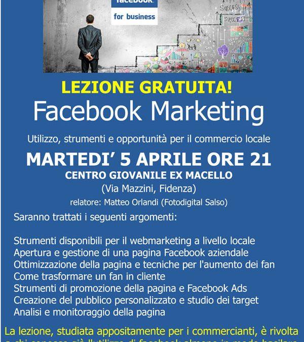 Facebook Marketing, una lezione gratuita a Fidenza