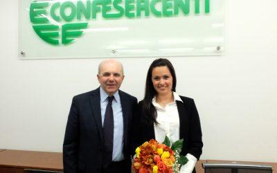 Confesercenti Parma: una nuova squadra giovane con alla guida una Presidente donna, Corrado Testa consegna la staffetta a Francesca Chittolini