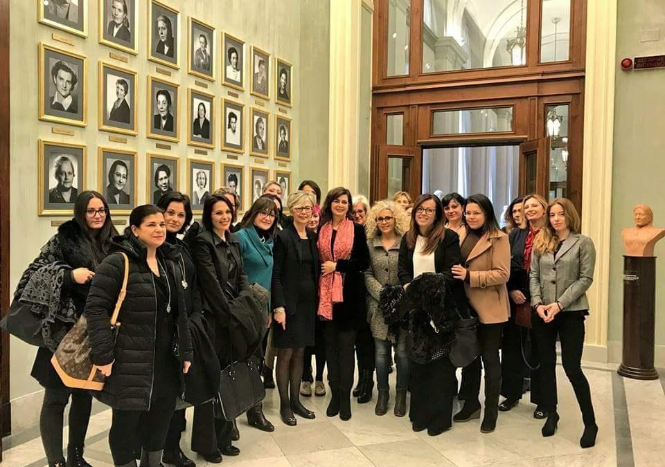 Incontro alla Camera dei Deputati per la presidente Chittolini con una delegazione di imprenditrici da tutta Italia