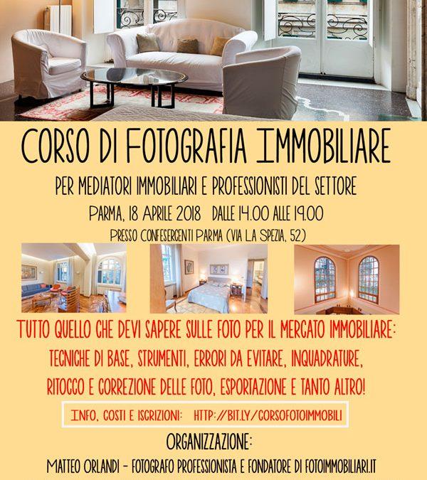 Corso di Fotografia Immobiliare il 18 aprile nelle aule Confesercenti Parma