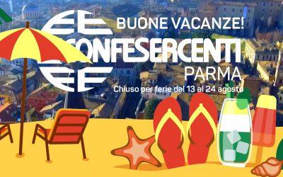 Confesercenti Parma chiude per ferie dal 13 al 24 agosto
