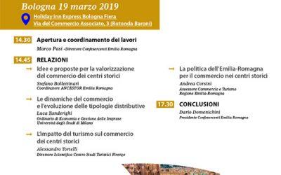 A Bologna il 19 marzo incontro sul commercio nei centri storici dell'Emilia Romagna