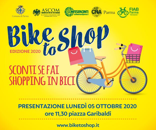 BIKEtoSHOP, presentazione il 5 ottobre in Piazza Garibaldi